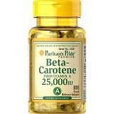 PURITANS PRIDE Beta Carotene 25000IU - 250 Tabs - Suplement Mata
