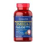 PURITANS PRIDE Fish Oil Omega 3 Double Strength 1200mg 180 Caps [PPFODS180C] - Suplement Pencegah Penyakit Jantung / Kolesterol