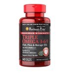 PURITANS PRIDE Maximum Strength Triple Omega 3-6-9 60 Caps (Merchant) - Suplement Peningkat Metabolisme Tubuh