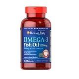 PURITANS PRIDE Omega-3 Fish Oil 1200 mg 200 Caps (Merchant) - Suplement Pencegah Penyakit Jantung / Kolesterol
