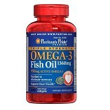 PURITANS PRIDE Triple Strength Omega 3 1360mg with 950mg EPA/DHA - 240 Softgels - Suplement Pencegah Penyakit Jantung / Kolesterol