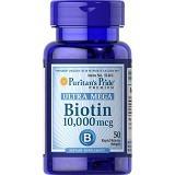 PURITANS PRIDE Ultra Mega Biotin 10,000 mcg -  100 Caps - Suplement Peningkat Metabolisme Tubuh