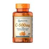 PURITANS PRIDE Vitamin C-500 mg with Bioflavonoids & Rose Hips 250 Caps (Merchant) - Suplement Penambah Daya Tahan Tubuh