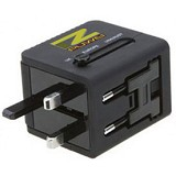 PUWEI UTA-13 (2 USB Output 5V1A + 5V2.1A)- Black - Universal Travel Adapter