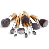 Posh Cosmetic Make Up Brush 11 Set with Pouch (Merchant) - Kuas Make-Up