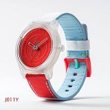 Q&Q Smile Solar [RP00J011YM] - Red/Light Blue - Jam Tangan Wanita Fashion