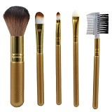 QUEEN OF THE SHINE Kuas Make Up Set 001 [KM001] - Gold (Merchant) - Kuas Make-Up