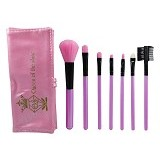 QUEEN OF THE SHINE Kuas Make Up Set Dompet [KM003] - Pink Azalea (Merchant) - Kuas Make-Up