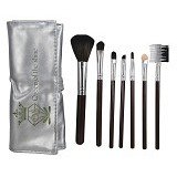 QUEEN OF THE SHINE Kuas Make Up Set Dompet [KM003] - Silver (Merchant) - Kuas Make-Up