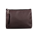 QUINTA Cubicle Pouch Bag - Dark Brown - Clutches & Wristlets Wanita