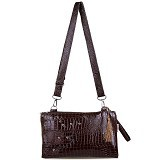 QUINTA HPO Shiny Matching - Dark Brown - Clutches & Wristlets Wanita