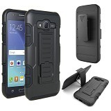 R-CASE Future Armor Hardcase with Belt Clip Holster Case for Samsung Galaxy J7 - Casing Handphone / Case