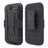 R-CASE Future Armor Hardcase with Belt Clip Holster Case for Samsung Galaxy Note 2 - Casing Handphone / Case