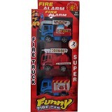 RAJA TOYS Funny Fire Car Truck [838-1] (Merchant) - Mainan Simulasi