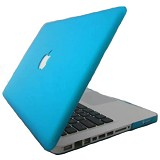"RAJAPPLECOM Matte Case HardCase For Macbook Pro 13.3"" - Aqua - Notebook Hard Shell Case"