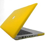 "RAJAPPLECOM Matte Case HardCase For Macbook Pro 13.3"" - Kuning - Notebook Hard Shell Case"