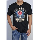 REDWHITE1945 Coat of Arms Full Colour Size XL - Black - Kaos Pria