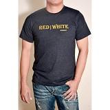 REDWHITE1945 Font Type - Gold T-shirt Size L - Navy Blue - Kaos Pria