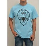 REDWHITE1945 Mad Orangutan Size L - Light Blue - Kaos Pria