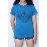 REDWHITE1945 Orangutan Shield T-shirt Size L - Azure Blue - Kaos Wanita