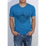 REDWHITE1945 Orangutan Shield T-shirt Size M - Azure Blue - Kaos Pria