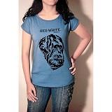 REDWHITE1945 Orangutan Silhouette Flock T-shirt Size M - Light Blue - Kaos Wanita