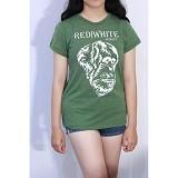 REDWHITE1945 Orangutan Silhouette in White Size XL - Gurkha Green - Kaos Wanita