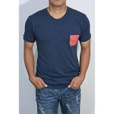 REDWHITE1945 Pocket T-Shirt Size S - Navy Blue - Kaos Pria