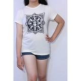 REDWHITE1945 Surya Majapahit Size XL - Broken White - Kaos Wanita