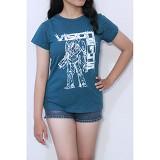 REDWHITE1945 Vision 2145 T-Shirt Size XL - Dark Tosca Green - Kaos Wanita