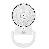 REMAX Beauty Moisture Mini Fan F9 Rechargeable Battery - White (Merchant) - Kipas Angin Meja