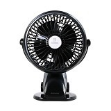 REMAX Clip Rechargeable USB Mini Fan F2 - Black (Merchant) - USB & Portable Fan