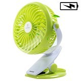 REMAX Clip Rechargeable USB Mini Fan F2 - Green (Merchant) - USB & Portable Fan