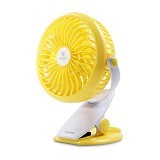 REMAX Clip Rechargeable USB Mini Fan F2 - Yellow (Merchant) - Kipas Angin Meja