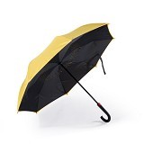 REMAX Double Layer Car Reverse Inverted Two Way Umbrella [RT-U1] - Yellow (Merchant) - Payung