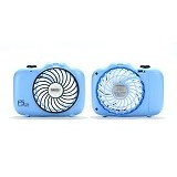 REMAX F5 Camera Shape Mini Fan - Blue (Merchant) - Kipas Angin Meja