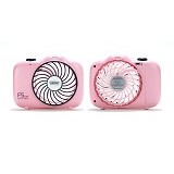 REMAX F5 Camera Shape Mini Fan - Pink (Merchant) - USB & Portable Fan