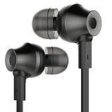 REMAX Stereo Earphone with Microphone and Volume Control [RM-610D] - Black (Mechant) - Earphone Ear Monitor / Iem