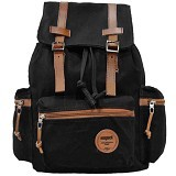 RESPECT Canvas Asterix Backpack - Black (Merchant) - Backpack Pria