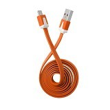 RHAYA GROSIR Kabel Data Flat Micro USB 1M - Orange (Merchant) - Cable / Connector Usb