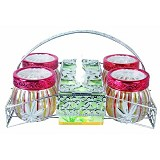 RUBY Set Rak Toples & Tempat Tissue - Toples