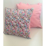 SADE.INDONESIA Cushion Cover with Silicone Pillow - Flower Pink - Bantal Dekorasi