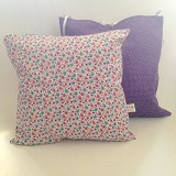 SADE.INDONESIA Cushion Cover with Silicone Pillow - Flower Purple - Bantal Dekorasi