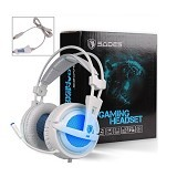 SADES Locust LED Lumination Gaming Headset [SA-704] - White (Merchant) - Gaming Headset