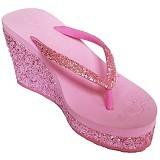 SAKIA Haiti Wedges Sandal Size 40 - Pink - Wedges Wanita