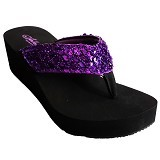 SAKIA Hawai Wedges Sandal Size 37 - Purple - Wedges Wanita