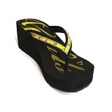 SAKIA Miami Wedges Sandal Size 40 - Yellow - Wedges Wanita