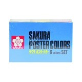 SAKURA Poster Colour 30ml Set 6 [Xpw 6] - Cat Air