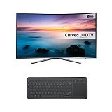 SAMSUNG 55 Inch Curved Smart TV UHD [UA55KU6500] + Microsoft Wireless Keyboard