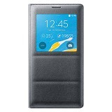 SAMSUNG Galaxy Note 4 S View Flip Cover - Charcoal Black - Casing Handphone / Case